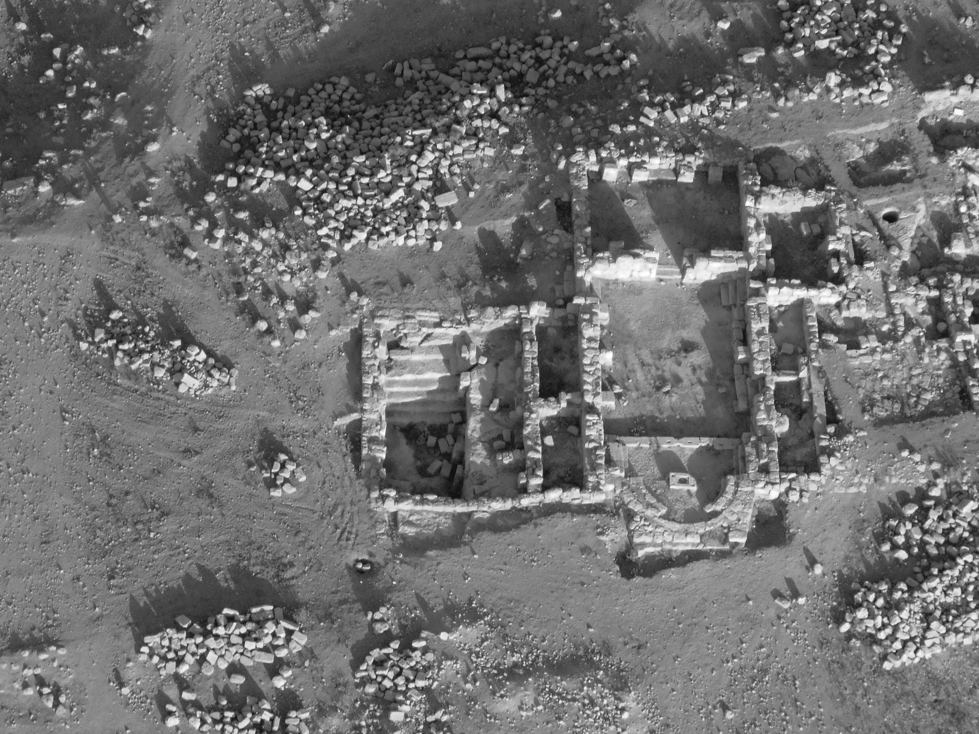 Low level aerial images and land survey
